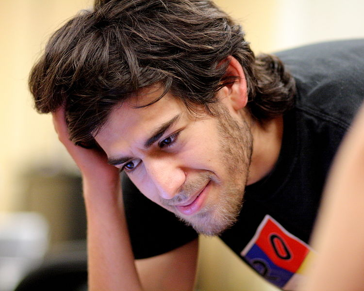 Aaron Swartz num encontro da Wikipédia em Boston, em 2009