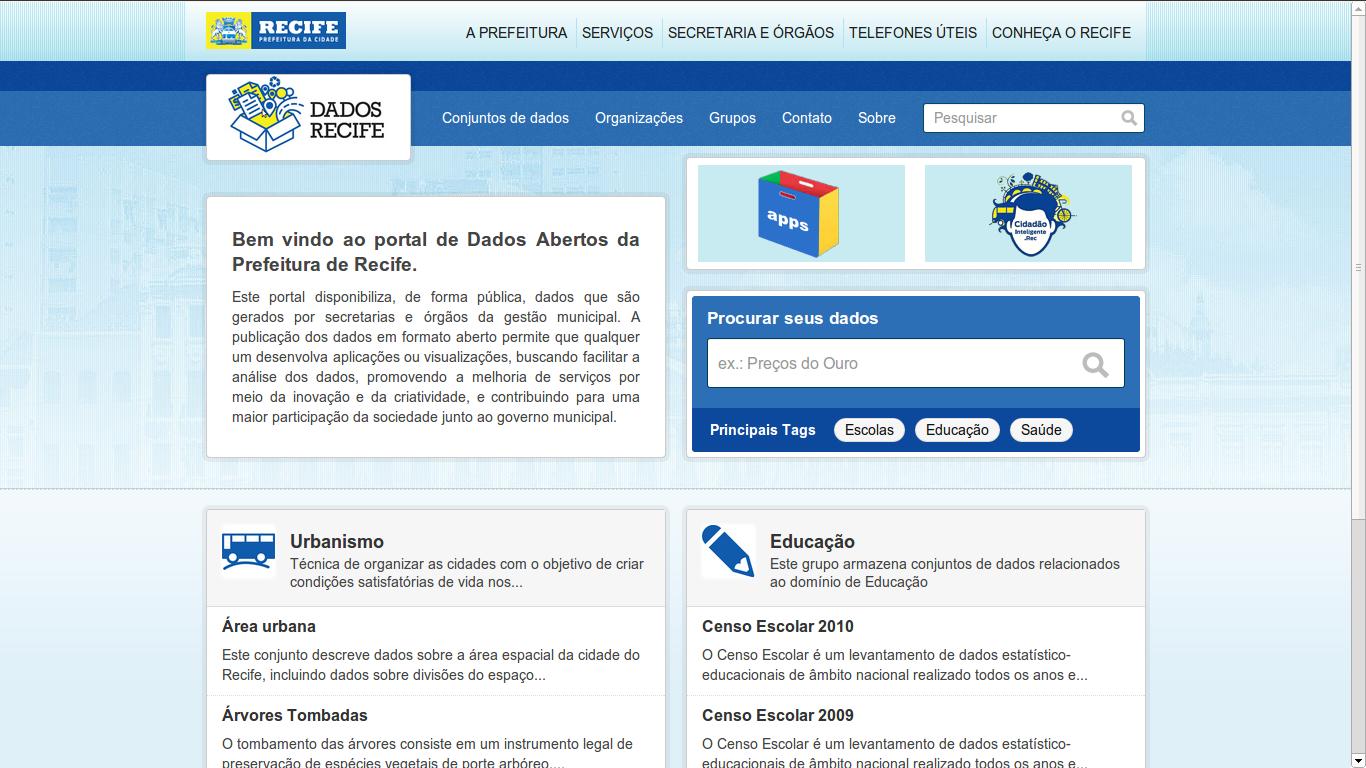 Portal de dados abertos de Recife http://dados.recife.pe.gov.br/