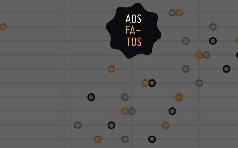 Arte com logo do site Aos Fatos.