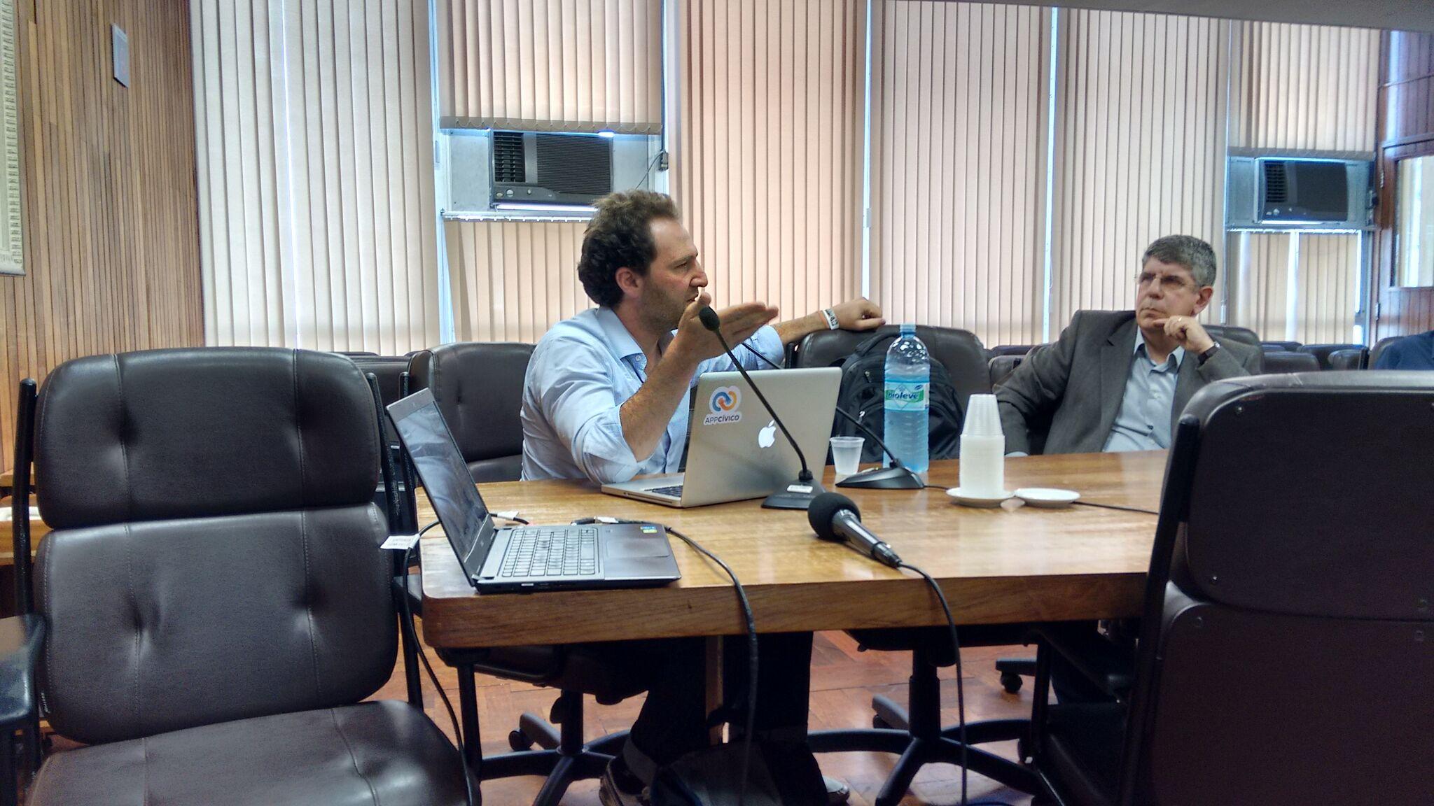 Ariel Kogan, conselheiro deliberativo da OKBr, e vereador Donato, presidente da CMSP