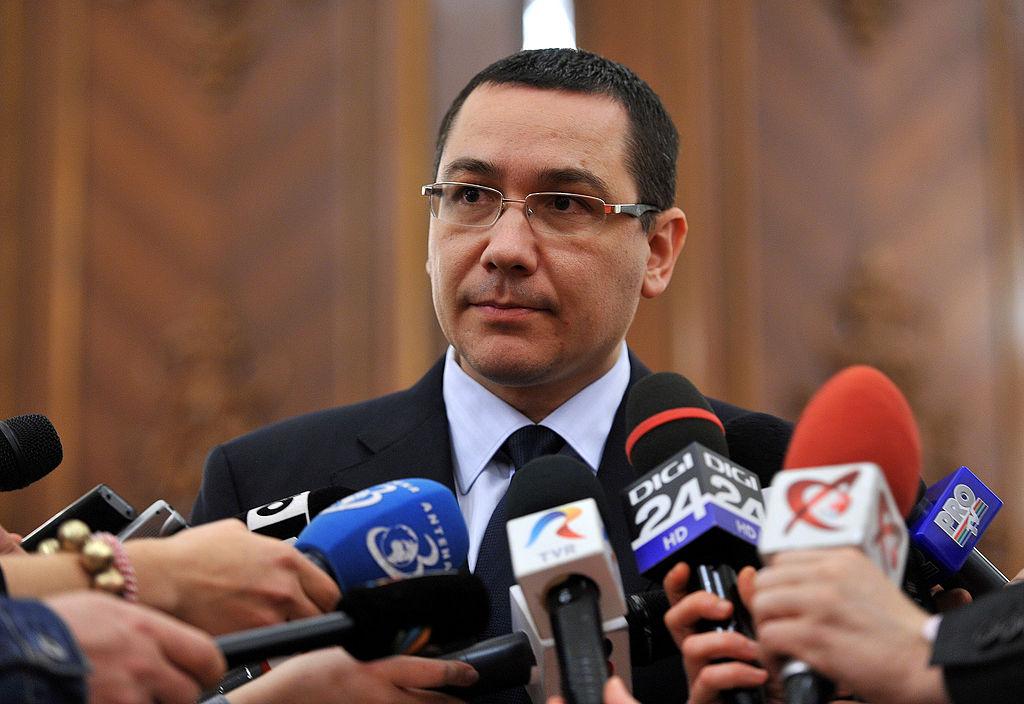 Ex-primeiro ministro da Romênia, Victor Ponta.